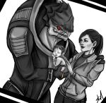 Wrex and Ashley Family by Rossilyn