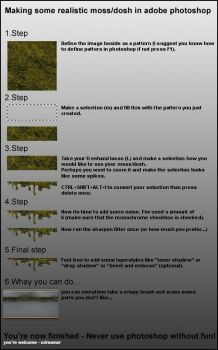 making moss-dosh with photshop by xdreamer