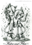 Gift: Kidori and Flair by CNWgraphis
