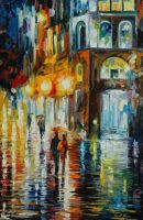 West Palm Beach City Place by Leonid Afremov by Leonidafremov