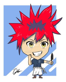 Little Chibi Yukihira Soma by TheDAAOfficial