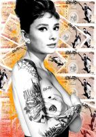 Audrey tatts for Cash by Evlisking