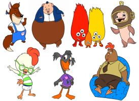 Chicken Little Characters by slinkysis3