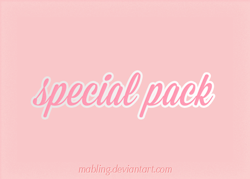 SPECIAL PACK - by Mabling by mabling