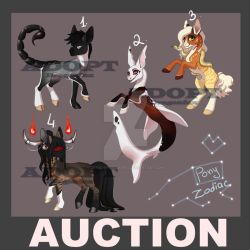 SALE Adopt|AUCTION 5 Ponies (Part2) {Closed} by DragonFoxAdopts