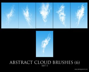 Abstract Cloud Brushes set 01 by slizzie