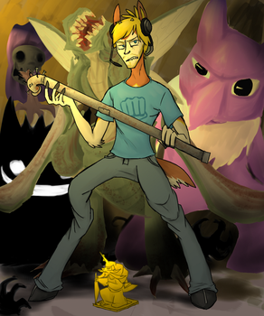 PewDiePie - Pokemon Horror by Azelf-Hill