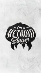 Metroid Slayer Phone Wallpaper (Black) by samuelzea
