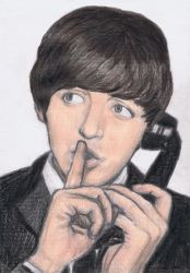 Paul McCartney says shh by gagambo