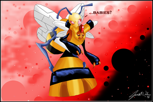 Beedrill and Vespiquen: Babies
