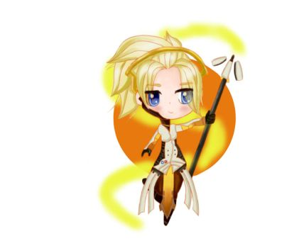 Mercy Chibi By Me by LZCCreations