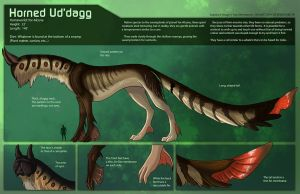 [Personal]  Horned Ud'dagg - Species Sheet by Ulario