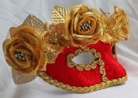 Red Queen Masquerade Mask by DaraGallery