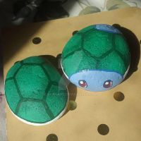 Shiny Squirtle - Painted Rocks by Batnamz