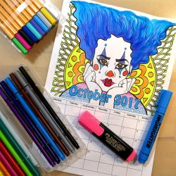 Clown Girl Coloring Calendar by LoVeras