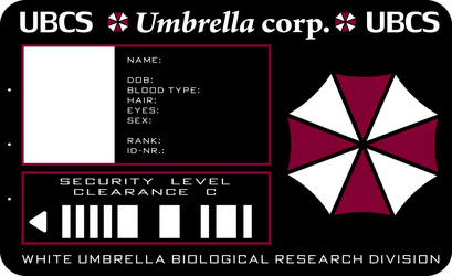 Umbrella ID card by PinkAxolotl