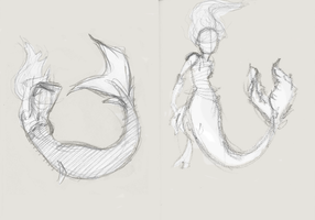 Mermaid gestures by Dark-Eyed-Junco