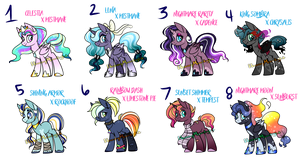[Collab] Shipping Ponies AUCTION ***CLOSED*** by HazeyMoonlight