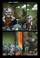 Teddy Scares Page 2 Colors by DustinEvans
