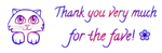Cat ~ Thank you for the fave 2 - FREESTUFF by AStoKo