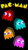 Pac-Man Ghosts Phone Wallpaper by tempest790