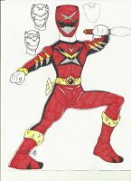 Gosei Red request 1 by DynamicSavior