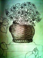 A Basket of flowers by Firsher