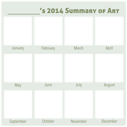 2014 Summary of Art BLANK by DustBunnyThumper