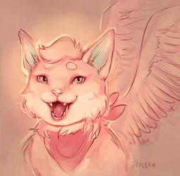 Dawnfeather the Winged Tabby by fralea