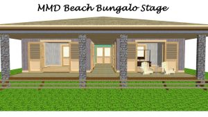 MMD Beach Bungalo Stage ~converted in sketchup~ by xXFrenchToastXx