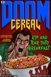 DOOM Cereal Box Cover by NathanMD