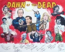 Dawn of the Dead cast painting by tdastick