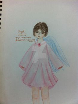 Weekly Drawing Challenge #4: Angel by PoppingTart