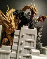 King Ghidorah vs Godzilla by Kongzilla92