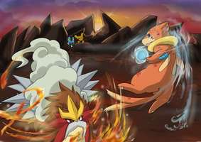 Buizel Vs Entei