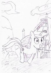 Lyra strolling in ponyville by PaKuTo