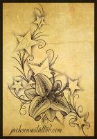 Stars and Lily by jacksonmstattoo