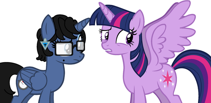 Bayonetta and Twilight Sparkle by user15432