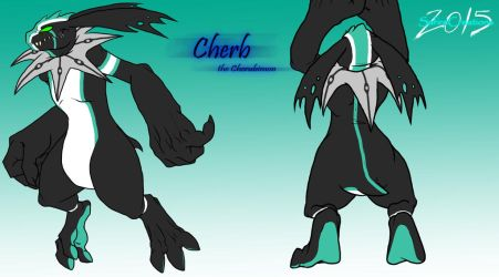 Digimon O.C  |Cherb Reference Sheet| by SafireCreations