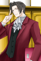 Miles Edgeworth by Martelca
