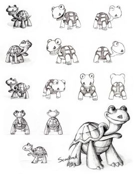 Turtle Slide sketches - Commision by Scooterek