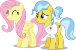 Fluttershy And Faunna by illumnious