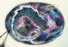 Space dragon by red-fox-child