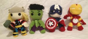 The Avengers Sackboy by anjelicimp