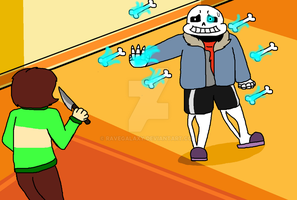 Sans VS Chara (Finished!) by RaveGalaxy