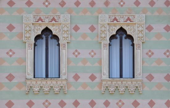 oriental windows by rainbows-stock