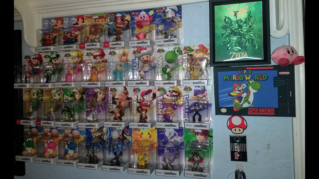 9-bit's amiibo collection by PxlCobit