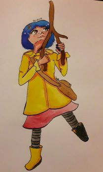 Inktober Day 20 +Coraline+ by Managodess