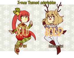 XMAS - themed adoptables [CLOSED] by ClawCraps