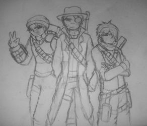 Random Sketch: Group pic by JustFr0sty